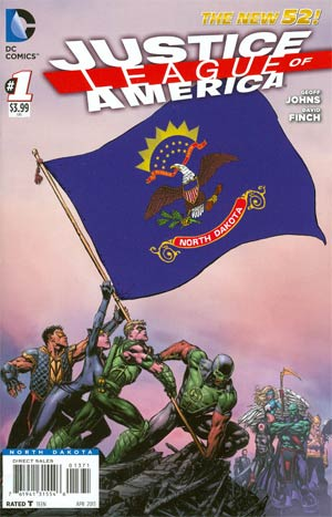 Justice League Of America Vol 3 #1 Variant North Dakota Flag Cover