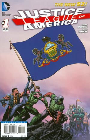 Justice League Of America Vol 3 #1 Variant Pennsylvania Flag Cover