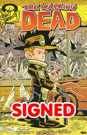 Walking Dead #103 DF Chris Giarrusso Variant Cover Signed By Chris Giarrusso