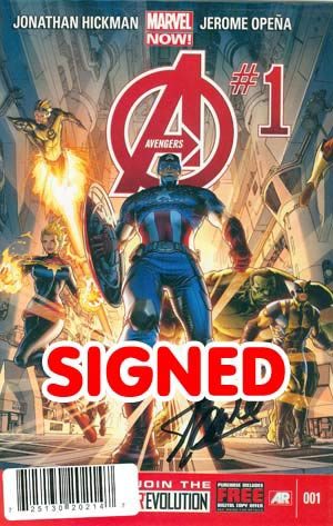 Avengers Vol 5 #1 Cover M DF Signed By Stan Lee