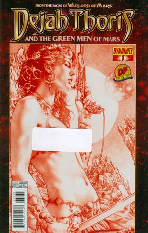 Dejah Thoris And The Green Men Of Mars #1 DF Exclusive Jay Anacleto Martian Red Risque Cover