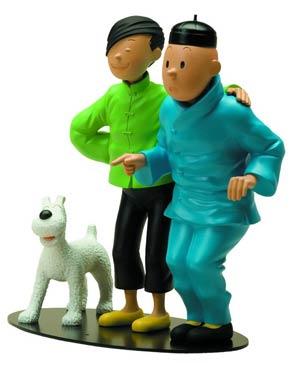 Tintin Meetings -Tintin & Chang Resin Statue