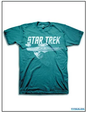Star Trek Enterprise Ship Indigo Blue T-Shirt Large