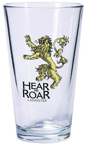 Game Of Thrones Pint Glass - Lannister Sigil