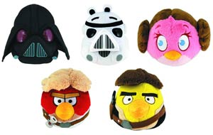 Angry Birds Star Wars 5-Inch Plush Assortment Case