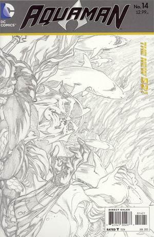 Aquaman Vol 5 #14 Incentive Ivan Reis Sketch Cover (Throne Of Atlantis Prelude)