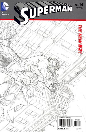 Superman Vol 4 #14 Incentive Kenneth Rocafort Sketch Cover (Hel On Earth Part 4)