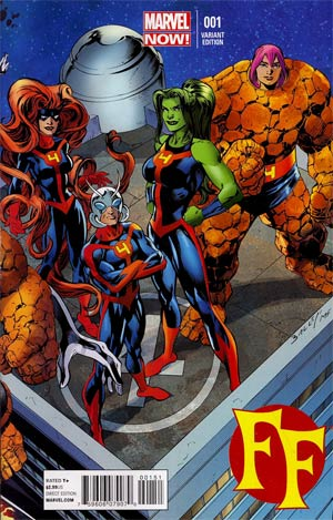 FF Vol 2 #1 Cover E Variant Mark Bagley Connecting Cover