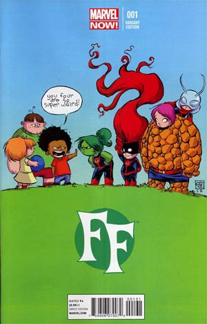 FF Vol 2 #1 Cover C Variant Skottie Young Baby Cover