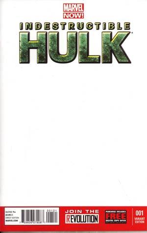 Indestructible Hulk #1 Variant Blank Cover