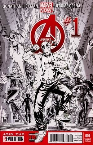 Avengers Vol 5 #1 Incentive Deadpool Gagnam Style Sketch Cover