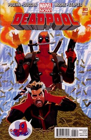 Deadpool Vol 4 #3 Incentive Daniel Acuna Variant Cover