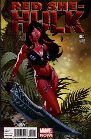 Red She-Hulk #60 Incentive Chris Stevens Variant Cover