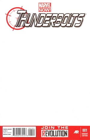 Thunderbolts Vol 2 #1 Variant Blank Cover