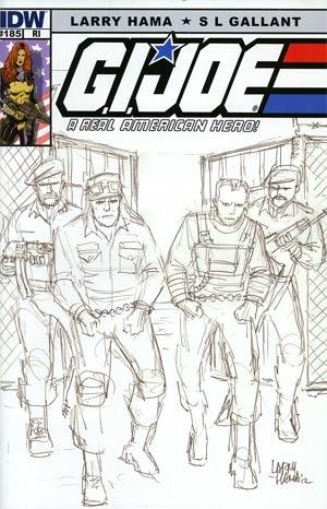 GI Joe A Real American Hero #185 Incentive Larry Hama Sketch Variant Cover