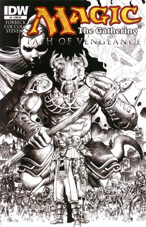 Magic The Gathering Path Of Vengeance #1 Incentive Martin Coccolo Variant Cover