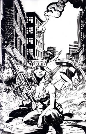 Fanboys vs Zombies #9 Incentive Dominike Domo Stanton Virgin Sketch Cover