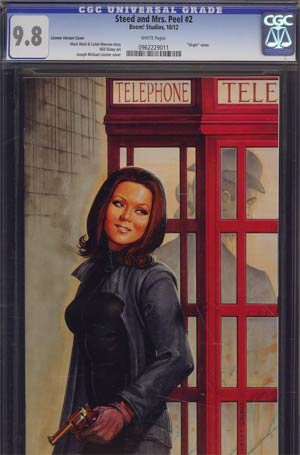 Steed And Mrs Peel Vol 2 #2 Incentive Joseph Michael Linsner Virgin Variant Cover CGC 9.8
