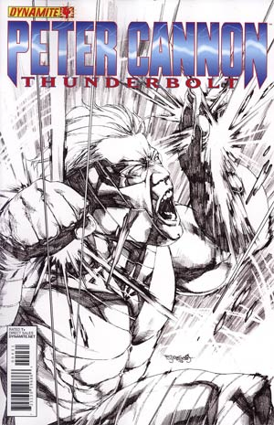 Peter Cannon Thunderbolt Vol 2 #4 Incentive Stephen Segovia Black & White Cover