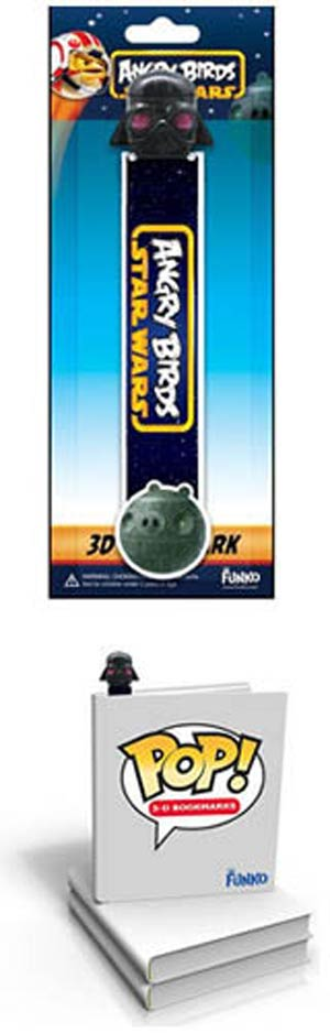 Angry Birds Star Wars Darth Vader Pig 3D POP Bookmark