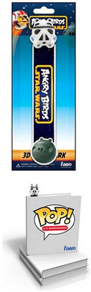Angry Birds Star Wars Stormtrooper Pig 3D POP Bookmark