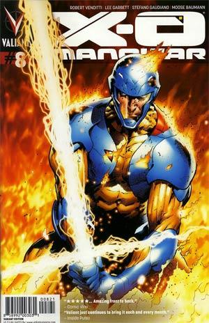 X-O Manowar Vol 3 #8 Cover B Incentive Trevor Hairsine Variant Cover