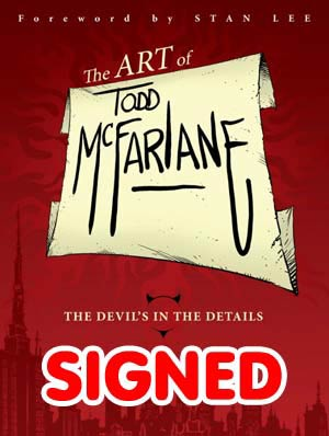 Art Of Todd McFarlane Devils In The Details HC Regular Edition Signed By Todd McFarlane (Limit 1 Per Customer)