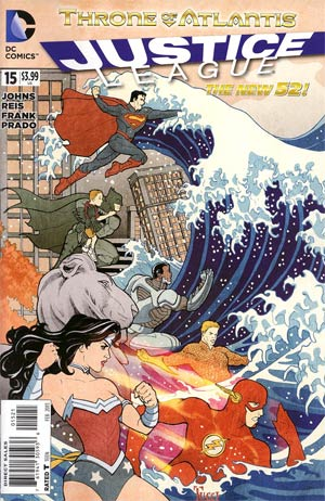 Justice League Vol 2 #15 Variant Billy Tucci Cover (Throne Of Atlantis Part 1)