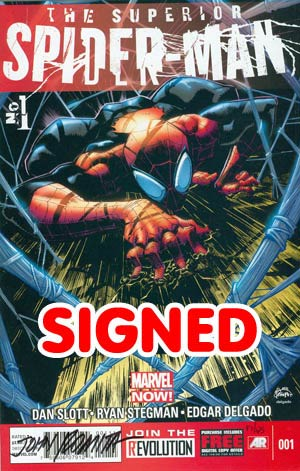 Superior Spider-Man #1 Cover O DF Signed By John Romita Sr