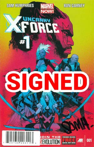 Uncanny X-Force Vol 2 #1 Cover F DF Signed By Sam Humphries