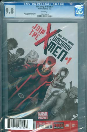 Uncanny X-Men Vol 3 #1 Cover H DF Regular Chris Bachalo Cover CGC 9.8