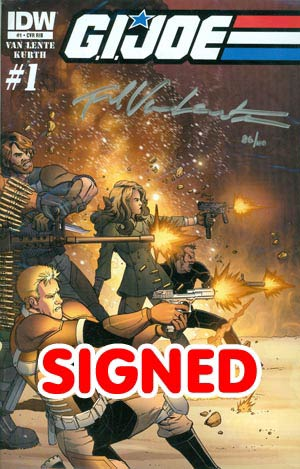 GI Joe Vol 6 #1 DF Signed By Fred Van Lente