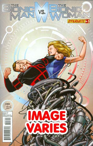 DO NOT USE Bionic Man vs Bionic Woman #3 Regular Cover (Filled Randomly With 1 Of 2 Covers)