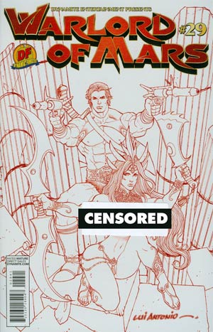 Warlord Of Mars #29 Cover F DF Exclusive Lui Antonio Martian Red Risque Cover