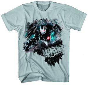 Iron Man 3 Warsplat-M Silver T-Shirt Large