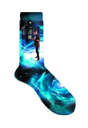 Doctor Who Doctor & TARDIS Print Womens Socks