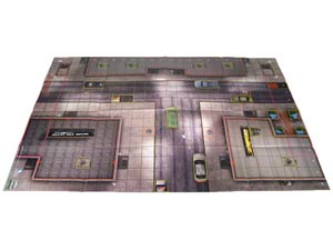 DC HeroClix Batman Streets Of Gotham Killer Croc Sewer Lair Indoor & Streets Of Gotham City Outdoor Two-Sided Play Map