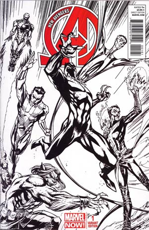 New Avengers Vol 3 #1 Incentive J Scott Campbell Sketch Cover