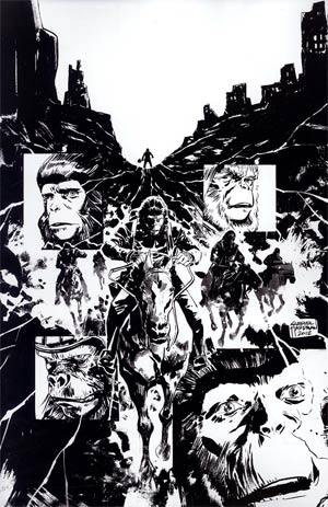Planet Of The Apes Cataclysm #5 Incentive Gabriel Hardman Virgin Sketch Cover