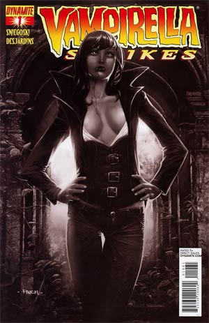 Vampirella Strikes Vol 2 #1 Incentive David Finch Black & White Cover