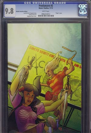 Freelancers #2 Incentive Stephane Roux Variant Cover CGC 9.8