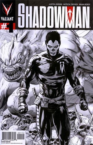 Shadowman Vol 4 #1 2nd Ptg Patrick Zircher Sketch Cover