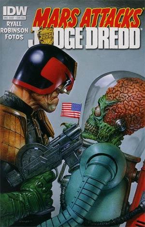 Mars Attacks KISS One Shot Incentive Mars Attacks Judge Dredd Variant Cover