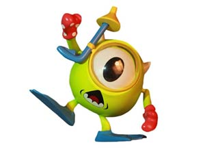 Monsters Inc Cosbaby - Mike Diver Version