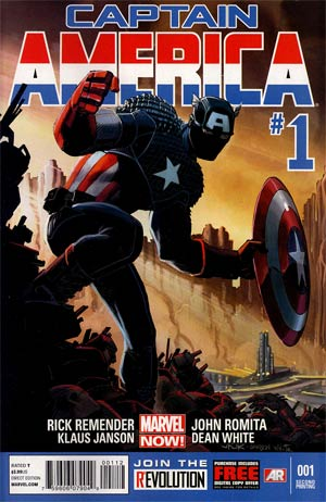 Captain America Vol 7 #1 Cover I 2nd Ptg John Romita Jr Variant Cover