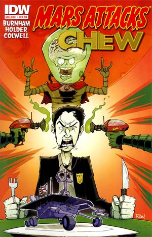 Mars Attacks Real Ghostbusters One Shot Incentive Mars Attacks Chew Variant Cover
