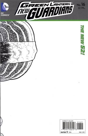 Green Lantern New Guardians #16 Incentive Aaron Kuder Sketch Cover (Rise Of The Third Army Tie-In)
