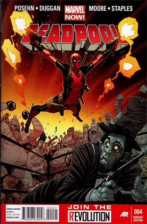Deadpool Vol 4 #4 Incentive Tradd Moore Variant Cover