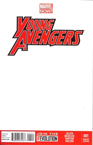 Young Avengers Vol 2 #1 Cover B Variant Blank Cover