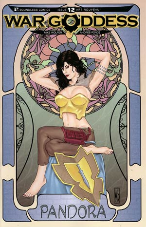 War Goddess #12 Incentive Art Nouveau Variant Cover